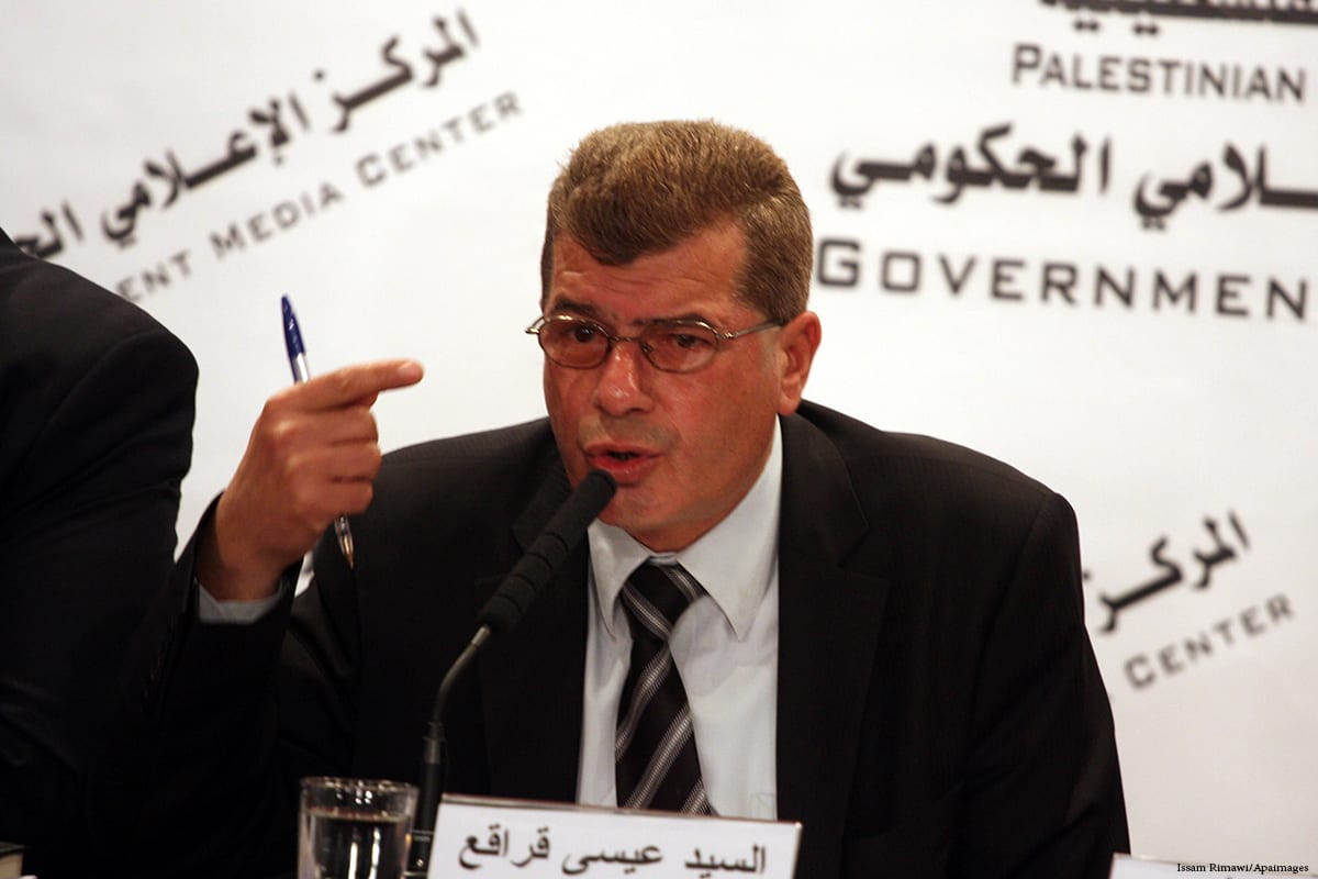 The head of the Palestinian Committee of Prisoners' Affairs Issa Qaraqe [Issam Rimawi/Apaimages]
