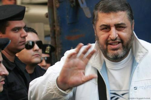 Image of Khayrat Al-Shater, the deputy leader of the Muslim Brotherhood [Revolution of the people/Facebook]