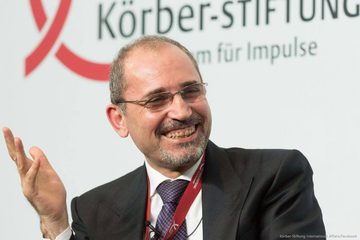 Image of Jordanian Foreign Minister Ayman Al Safadi [Körber-Stiftung International Affairs/Facebook]