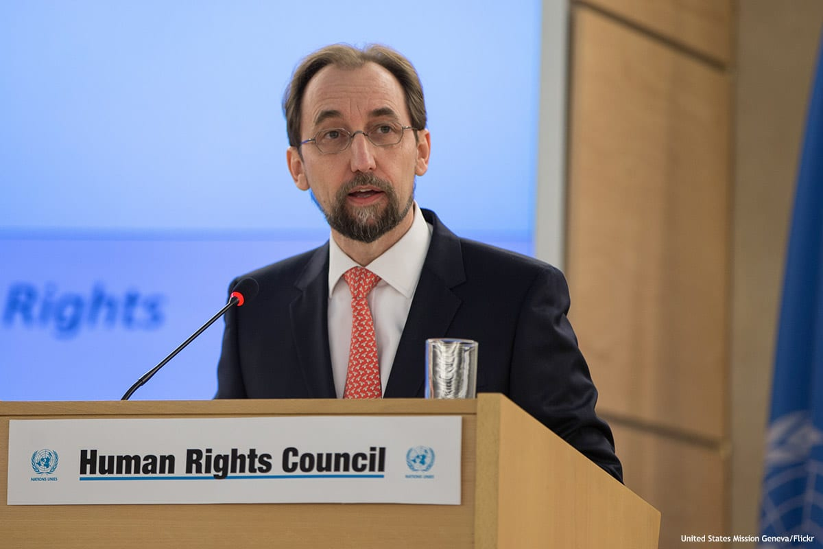 Image of Zeid Ra'ad Al-Hussein, the UN High Commissioner for Human Rights [United States Mission Geneva/Flickr]