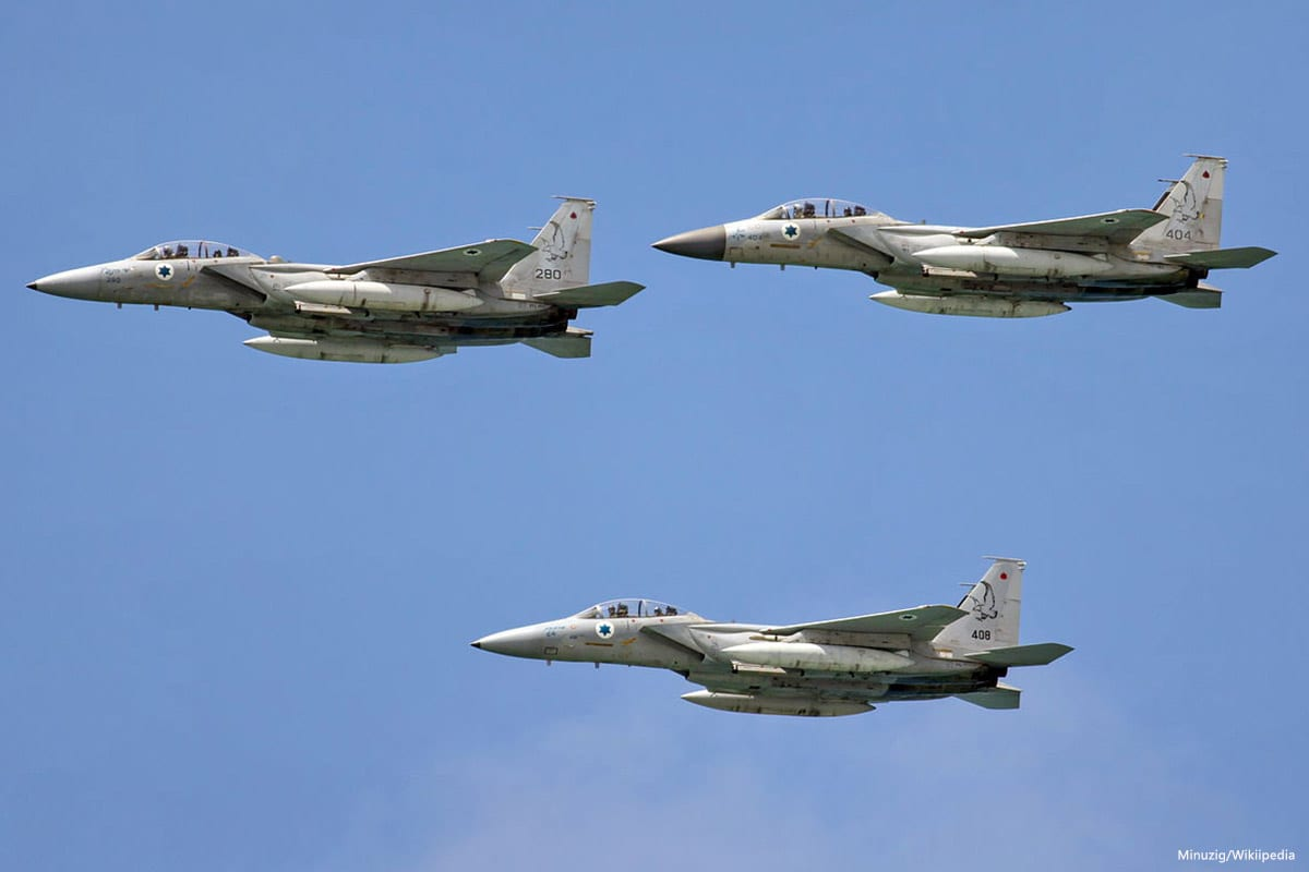 Image of Israeli air force [Minuzig/Wikiipedia]