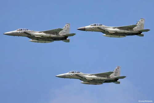 Fighter jets of the Israeli air force, as pictured on 23 April 2015 [Minuzig/Wikipedia]