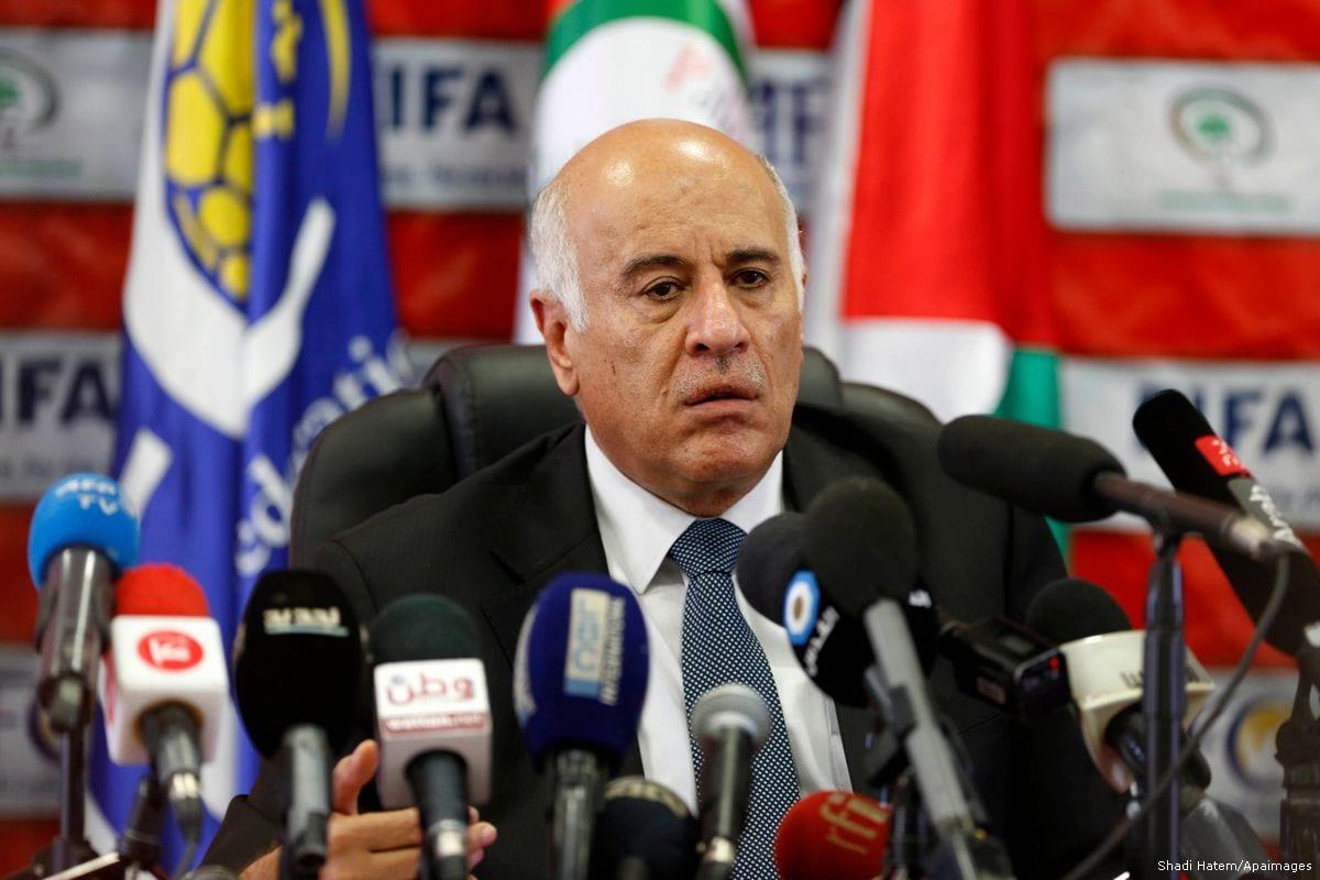 Secretary General of Fatah's Central Committee (FCC) and Palestinian Football Association (PFA) President Jibril Rajoub [Shadi Hatem/Apaimages]