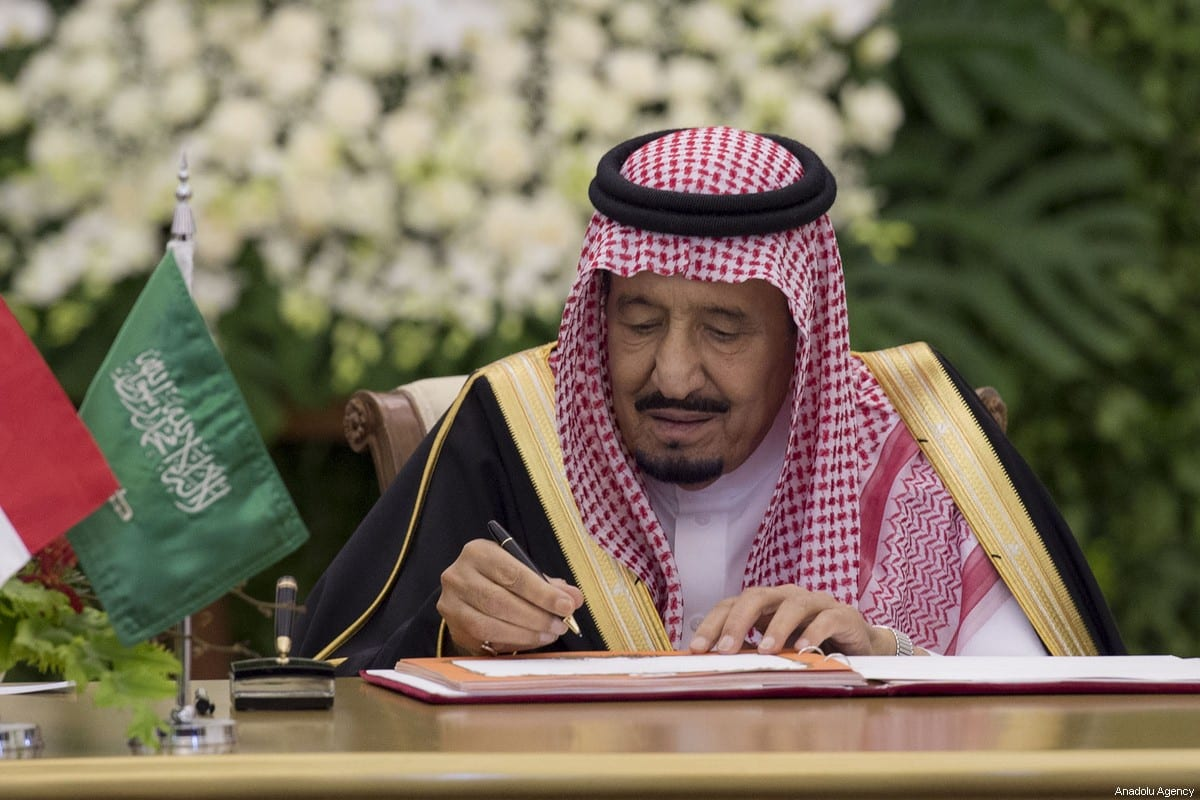 Image of King of Saudi Arabia Salman Bin Abdulaziz Al-Saud on 1 March 2017. [Bandar Al-Galoud/ Saudi Kingdom Council]
