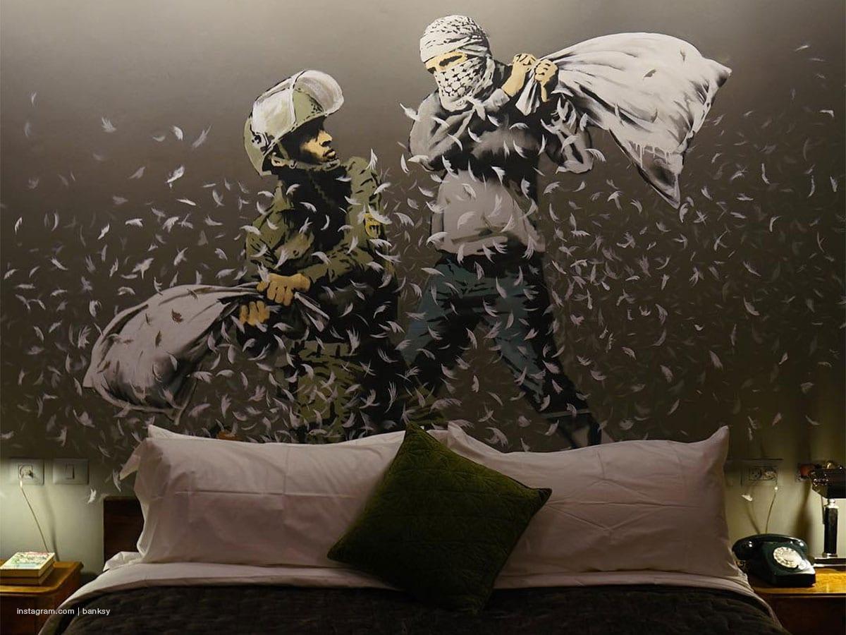 Banksy opens a hotel in Bethlehem