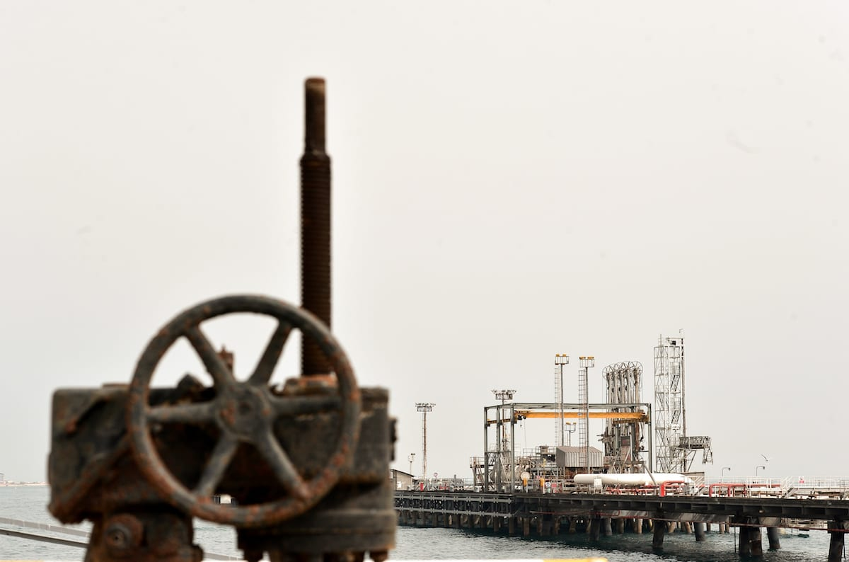 A general view of the Port of Kharg Island Oil Terminal in Iran [Fatemeh Bahrami/Anadolu Agency]