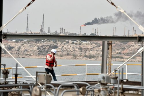TEHRAN, IRAN – MARCH 12: A general view of the Port of Kharg Island Oil Terminal, in the Persian Gulf on March 12, 2017. Kharg Island Oil Terminal brings Iranian oil to the world market. The oil terminal is the world's largest open oil terminal, with 95% of Iran's crude oil exports coming through it. ( Fatemeh Bahrami – Anadolu Agency )