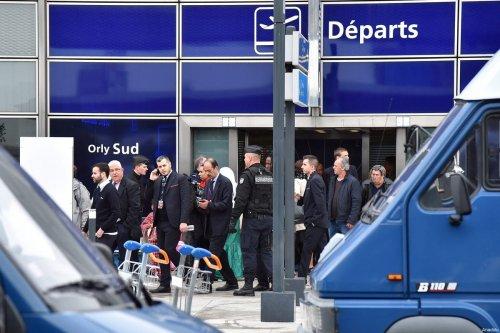 French policemen operate at Orly Airport, near Paris, France on 18 March 2017 [Mustafa Yalçın/Anadolu Agency]