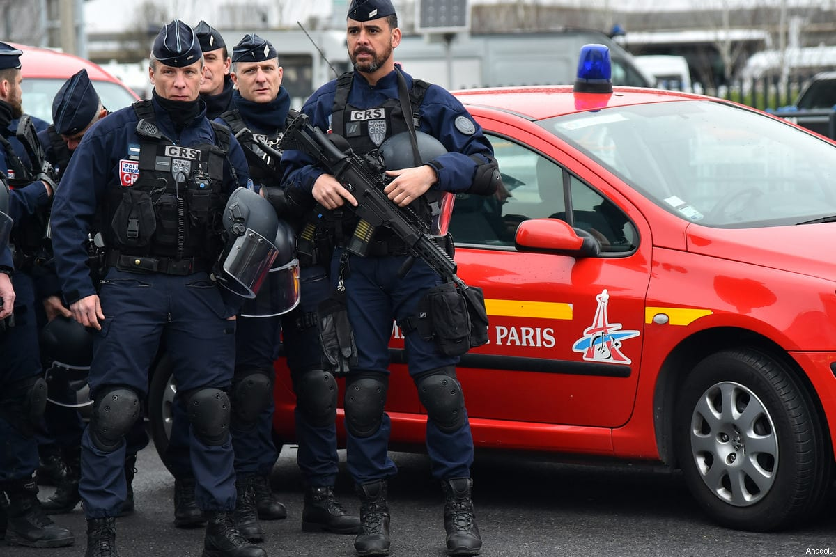 French policemen operate at Orly Airport, near Paris, France on 18 March 2017 [Mustafa Yalçın - Anadolu Agency]