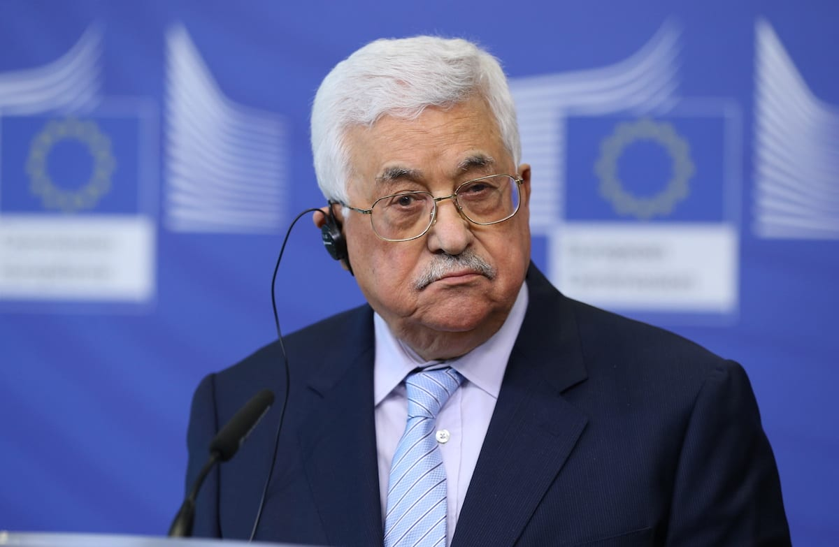 Palestinian President Mahmoud Abbas in Brussels, Belgium on March 27, 2017 [Dursun Aydemir/ Anadolu Agency]