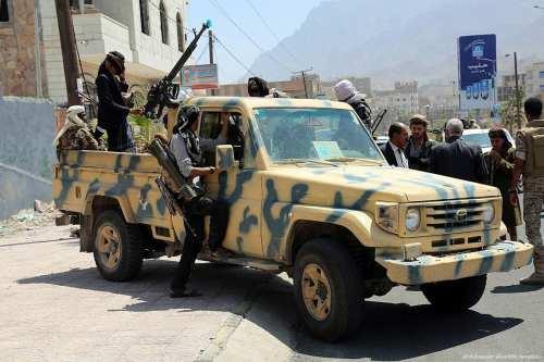 Houthi rebels in Taiz, Yemen on February 28, 2017 [Abdulnasser Alseddik - Anadolu]