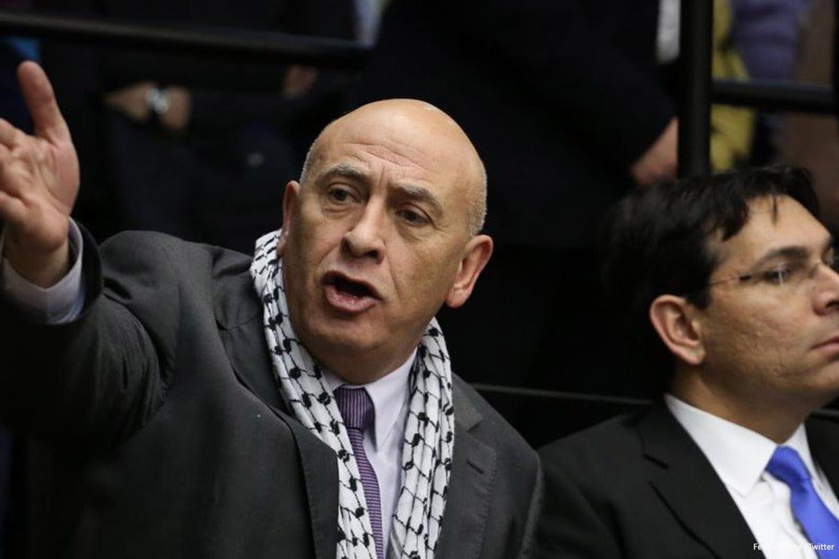 Image of Arab Israeli MK Basel Ghattas [FedPalestina /Twitter]