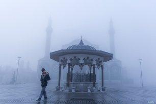 KONYA, TURKEY- A blurry day
