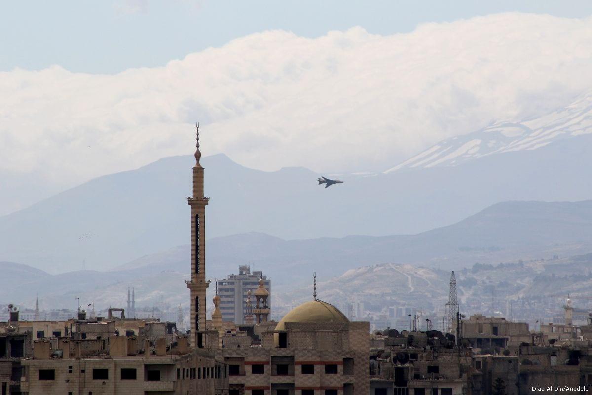 Warplanes belonging to the Assad regime in Syria on March 20, 2017 [Diaa Al Din/Anadolu Agency]