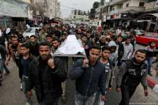 Funeral of 18-year-old Yusuf Shabaan Abu-Athra in Gaza [Mohammed Asad/Middle East Monitor]