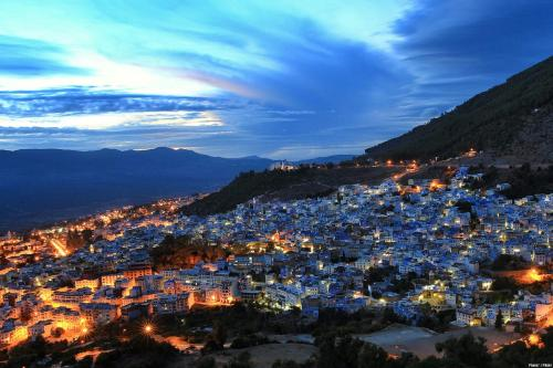 Chefchaouen , a lovely town located among the Rif Mountains , Morocco [Franx' / Flickr]
