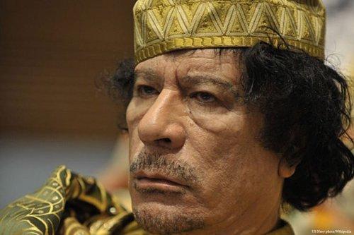Image of the former Libyan leader, Muammar Gaddafi [US Navy photo/Wikipedia]