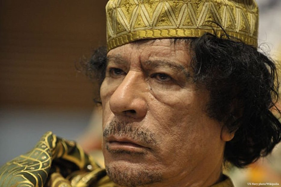 Image of the former Libyan leader, Muammar Gaddafi [US Navy photo/Wikipedia]