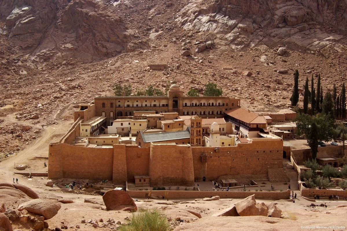 Image of Saint Catherine's Monastery in Sinai, Egypt [Berthold Werner/Wikipedia]