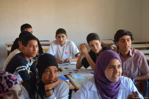 Image of Moroccan students in Casablanca, Morocco on 8 October 2013 [Henskechristine/Flickr]