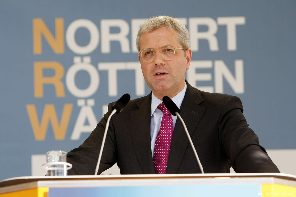 Image of Dr Norbert Rottgen, Chairman of the German Parliament's Committee on Foreign Relations on 3 May 2012 [Tim Reckmann/Wikipedia ]