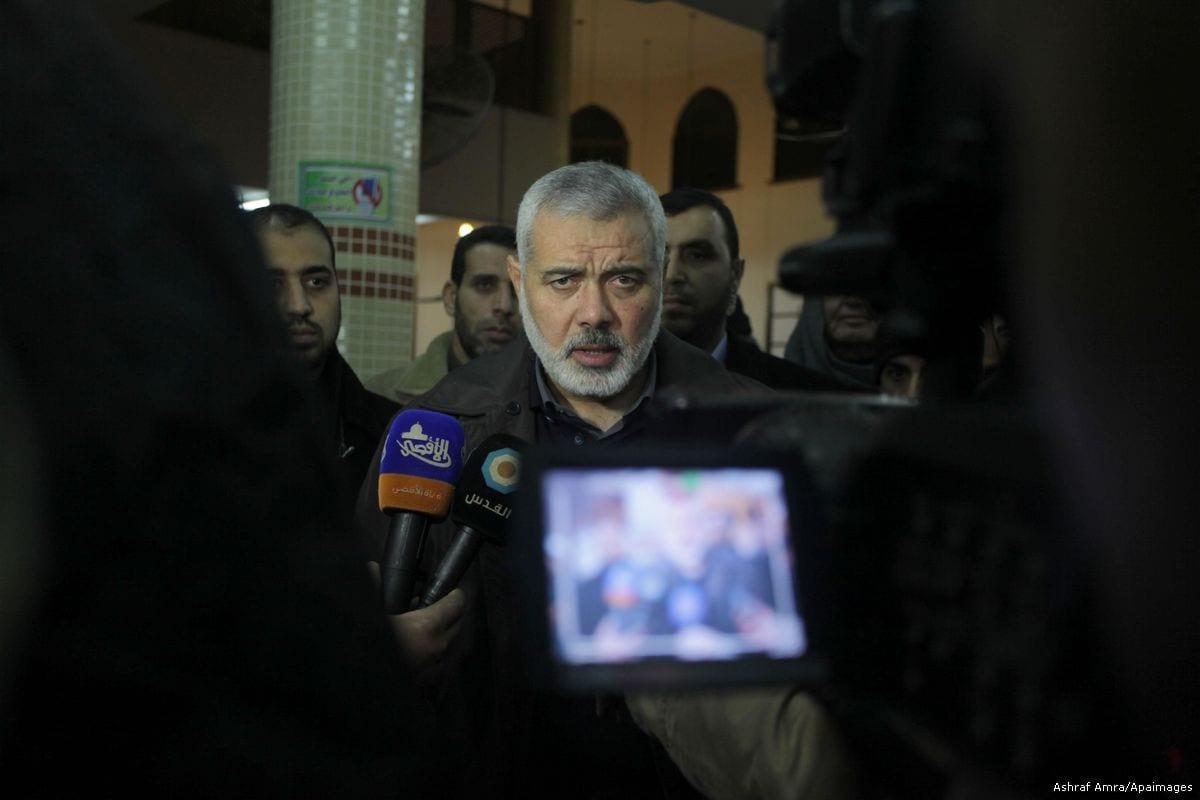 Image of Ismail Haniyeh [Ashraf Amra/Apaimages]