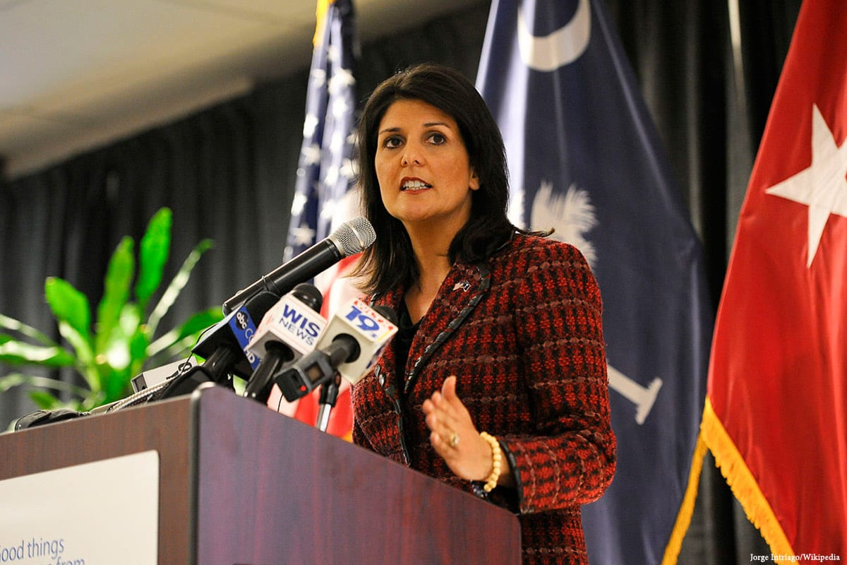 Image of US Ambassador to UN Nikki Haley [Jorge Intriago/Wikipedia]