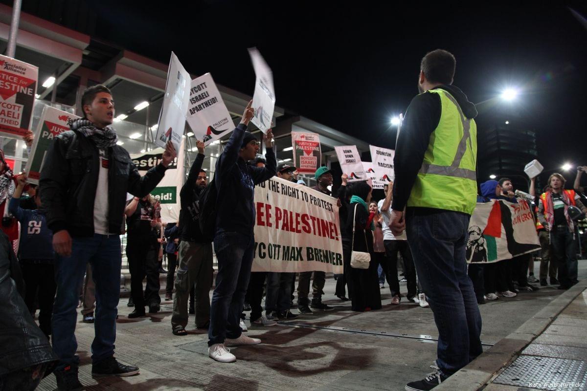 Image of BDS protest on 20 September 2012 [Kate Ausburn/Flickr]