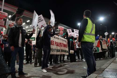 Image of BDS protest on 20 September 2012 [Kate Ausburn/Flickr]
