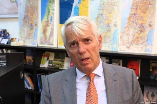 Image of EU Ambassador to Israel Lars Faaborg Andersen [Tovah Lazaroff/Youtube]
