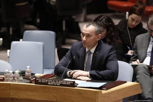 Image of the United Nations (UN) Special Coordinator for the Middle East Peace Process, Nickolay Mladenov on 17 February 2015 [A Paranoid Optimist/Flickr]
