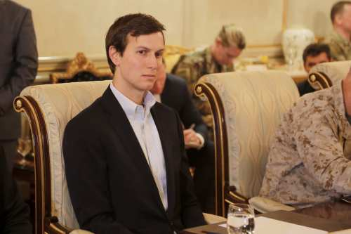US President Donald Trump's Senior Advisor Jared Kushner is seen during a meeting in Erbil, Iraq on 4 April, 2017 [Yunus Keleş/Anadolu Agency]
