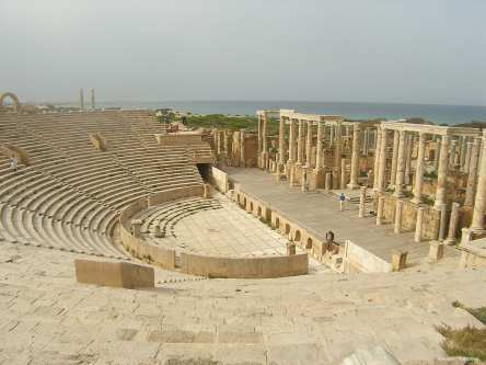 View of the theatre at Leptis Magna in Libya. [Image: Flickr / Rob Glover]