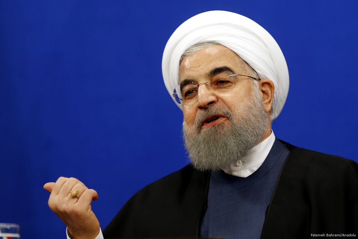 President of Iran Hassan Rouhani speaks during a press conference in Tehran, Iran on 10 April 2017 ( Fatemeh Bahrami/Anadolu Agency )