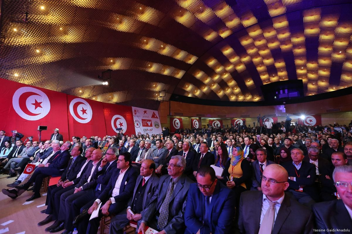 Joint opposition front of ten political parties held at the Conferences Palace in Tunis, Tunisia on April 2, 2017 (Yassine Gaidi - Anadolu Agency )