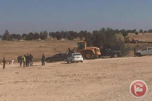 Image of Israeli bulldozers after having demolished the Arab Bedouin village of Al-Araqeeb on 25 April 2017 [maannews]