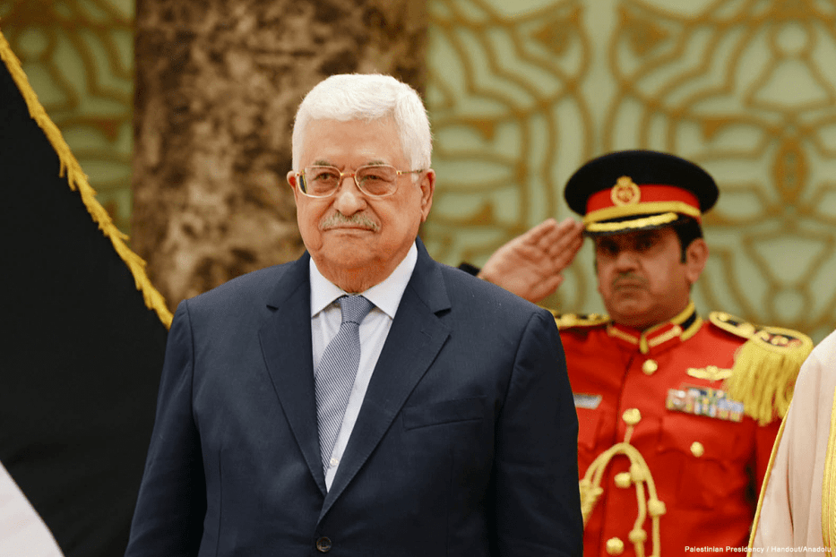 Image of Palestinian President Mahmoud Abbas on 23 April 2017 [Palestinian Presidency / Handout/Anadolu Agency]