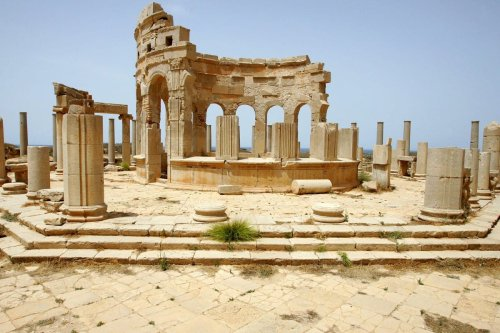 A view of Leptis Magna in Libya.