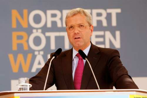 Norbert Röttgen, former German Federal Minister of the Environment, seen at a campaign rally in 2012 in Hamm, Germany [Tim Reckmann / Wikipedia]