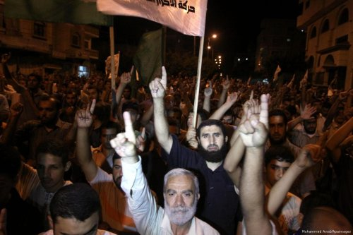 Image of Hamas supporters on 8th October 2010 [Mohammed Asad/Apaimages]