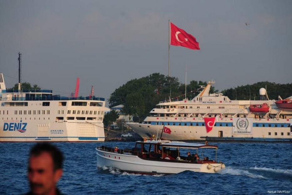 Image of the humanitarian aid boat, the MV Mavi Marmara, before it left Turkey in 2010 [Farhat Jah/Flickr]