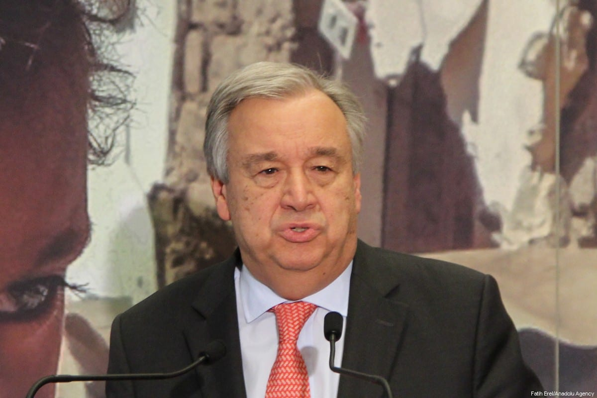 Secretary-General of the United Nations Antonio Guterres [Fatih Erel /Anadolu Agency]