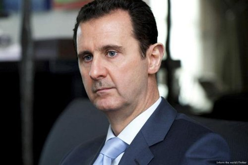 Image of Syrian President Bashar Assad on 14 April 2017 [Inform the world/Twitter]