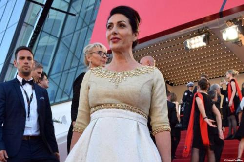 Culture and Sports Minister Miri Regev at the Cannes Film Festival on 17 May 2017 [Eli Sabati/Facebook