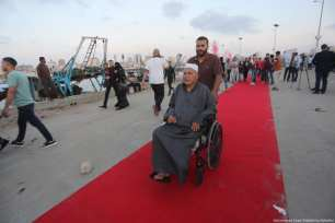 The third annual human rights film festival opening ceremony in Gaza on 12 May 2017