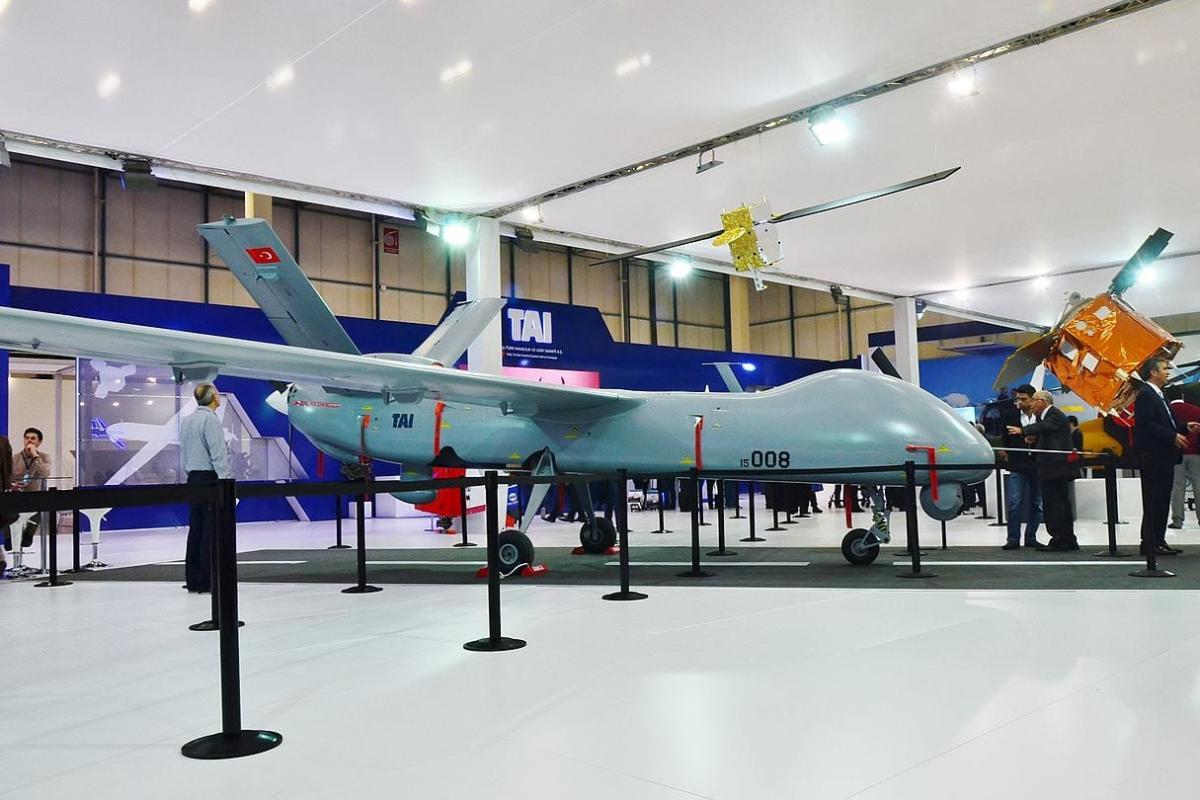 Unmanned aerial vehicle ANKA of Turkish Aerospace Industries at IDEF 2015 [CeeGee / Wikipedia]