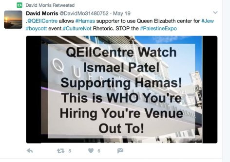 Campaign on social media calling to put a stop to the Palestinian Exp 2017 [Twitter]