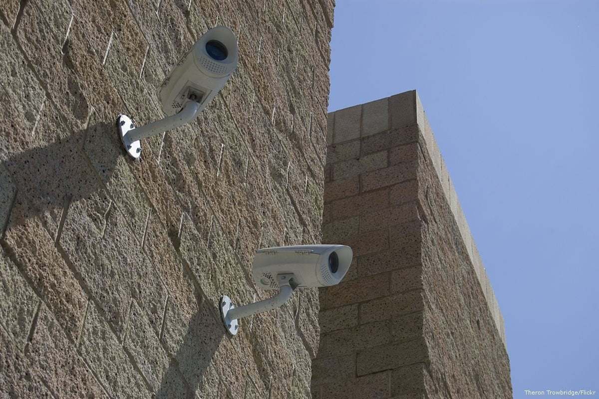 Image of security cameras [Theron Trowbridge/Flickr]