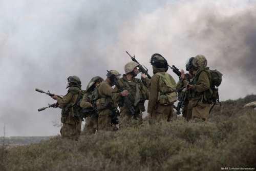 Image of Israeli soldiers [Nedal Eshtayah/Apaimages]