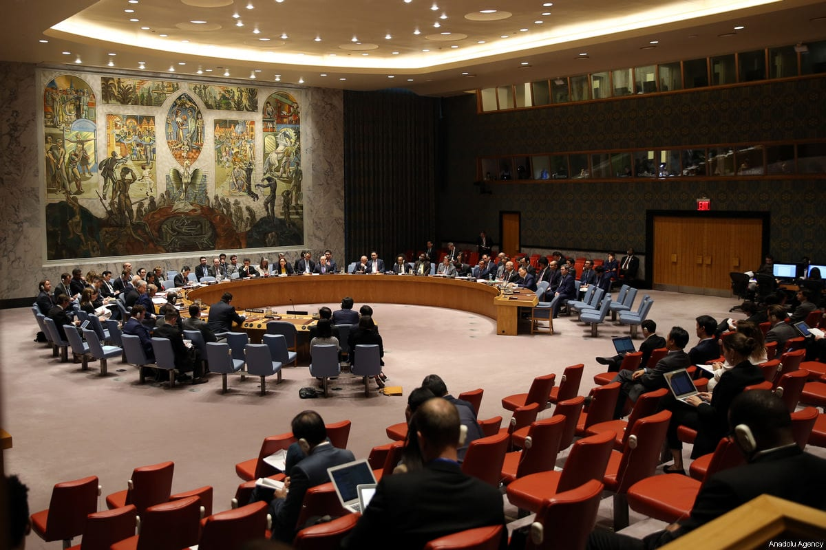UN Security Council meeting in session in New York, US on 2 June 2017 [Mohammed Elshamy/Anadolu Agency]